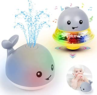 Bath Toys, Children's Water Spray Toys, Bathtub Toys, sprinklers, Cute Baby Shiny Bath Toys, Luminous Bathtub Toys, 2 in 1...