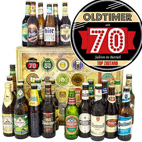 Oldtimer 70-24x Bier aus aller Welt und D - für Opa zum Geburtstag/Biersorten Adventskalender