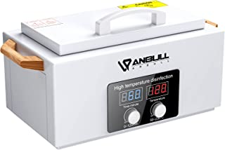 ANBULL High Temperature Metal Tool Cleaning Box with Digital Screen, Dry Heat Cabinet 120 Minute 300W 1.8L forSalon Equip...