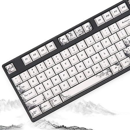 KEEZSHOP Keycaps, 108 Tecla Teclado mecánico Teclado PBT ...