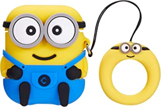 Mulafnxal Compatible with Airpods 1&2 Case,Cute Funny Cartoon Character Silicone Airpod Cover,Kawaii Fun Cool Design Skin,Fashion Animal Designer Cases for Girls Kids Teens Boys Air pods(3D Two Eye)