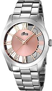 Lotus Watches Reloj Análogo Clásico de Cuarzo con Correa en Acero Inoxidable para Mujer 18122/1