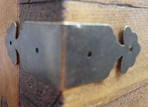 Lot de 4-coloris laiton antique Vintage Bo/îte m/étallique coins bretelles bretelles angle inclus de Celtic Woods cadeau portefeuille C029 calendrier
