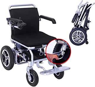 Sillas de ruedas eléctricas para adultos Doble Deluxe plegable de alimentación compacto Movilidad for sillas de ruedas Aid, ligero plegable Llevar silla de ruedas eléctrica con 2 baterías, silla de ru