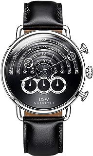 Fashion Watch, Mens Watches Unique Cool Creative Design Chronograph Sport Waterproof Quartz Rotation Concept Wrist Watch