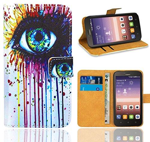Huawei Y625 Handy Tasche, FoneExpert® Wallet Hülle Flip Cover Hüllen Etui Ledertasche Lederhülle Premium Schutzhülle für Huawei Y625 (Pattern 10)