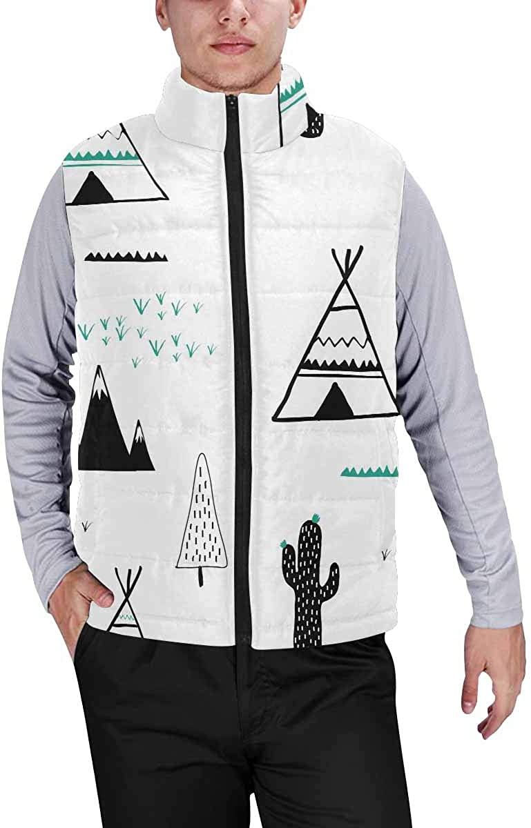 InterestPrint Men's Lightweight Vest Softshell for Camp Bullfinches and Leaves