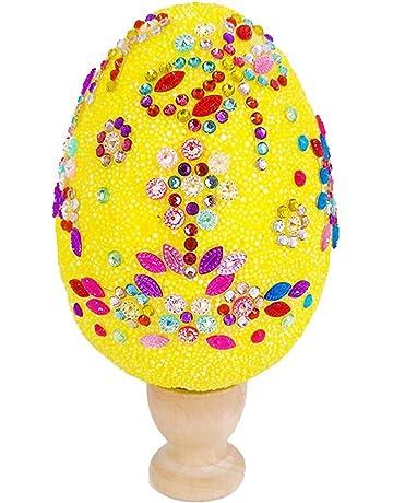 O-Kinee Uova di Pasqua Decorazioni Pasquali Uova di Plastica per la Decorazione e Regali del Partito di Pasqua 50 Pezzi Uova di Pasqua da Appendere Pasqua Decorazioni casa Uova di plastica