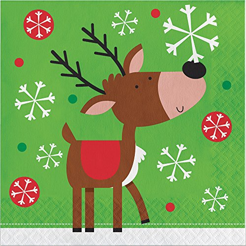 Creative Converting 16-Count Lunch Paper Napkins, Snowflake Fun