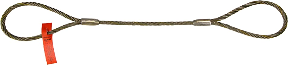 "Liftall 12IEEX6 Eye and Eye Wire Rope Sling, 1/2"" x 6', 6 x 19 IMP"