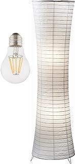 Lampadaire de salon en papier blanc avec LED – Lampadaire pour chambre d'enfant salle à manger moderne – Lampe en papier d...