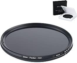 52MM Variable Neutral Density Slim Filter - ND2 to ND400 ND Filter for Nikon D3400, D3200, D3300, D3100, D5100, D5200, D5300, D5500, D5600, D7100, D7200, DF, D4, D90, D610, D700, D750, D800, D810 DSLR