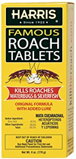Harris Roach Tablets, Boric Acid Roach Killer with Lure, Alternative to Bait Traps (6oz, 145 Tablets)