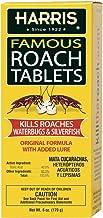 Harris Roach Tablets, Boric Acid Roach Killer with Lure, Alternative to Bait Traps (6oz,..