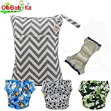 Ohbabyka Waterproof Reusable Baby Diaper Training Pants, 4PCS (Training pants012)