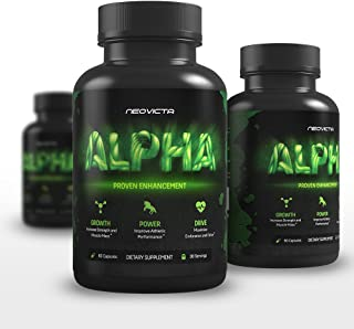Testosterone Booster for Men - Alpha by Neovicta - Increase Stamina, Strength & Endurance - Muscle Builder Supplement Containing Tongkat Ali, Fenugreek, Resveratrol & More