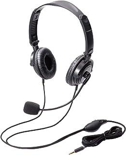 エレコム ヘッドセット マイク 4極 両耳 オーバーヘッド 耐久コード 折り畳み式 1.8m HS-HP20TBK
