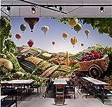 CQDSQN Papel pintado Bola de verduras pintadas Campo de frutas Restaurante Tienda de frutas Pintura ...