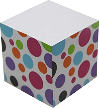 4A Sticky Memo Cube,2 1/2 Inches,Bubble Patterned Printed On The Four Sides,Self-Stick Notes Cube,About 500 Sheets/Cube,1 Cub
