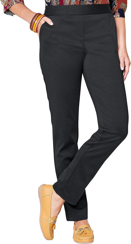 Ladies Womens Pocket Ponteroma Trouser Color