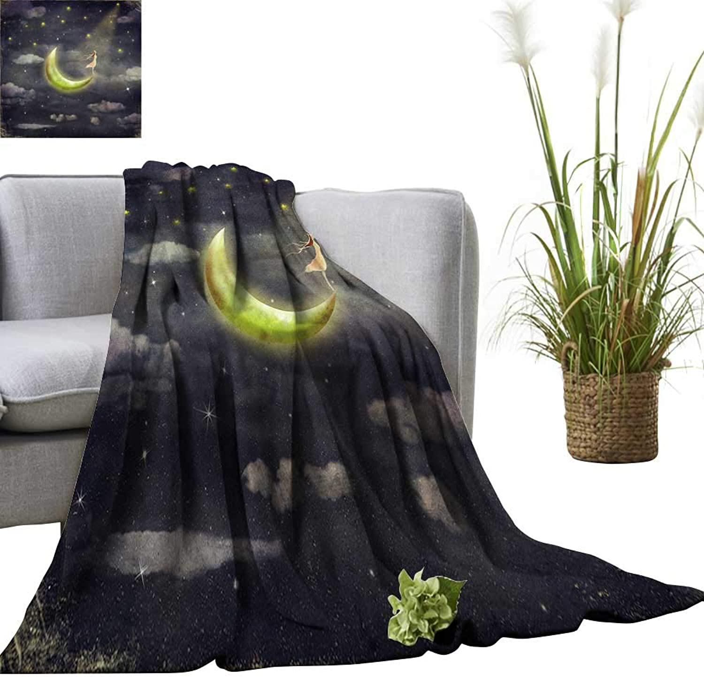 YOYI Digital Printing Blanket The Shows The Girl who admires The Star Sky Better Deeper Sleep 60 x70