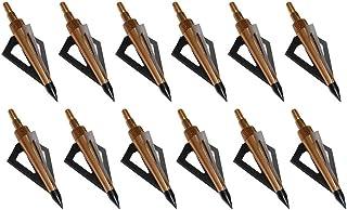 Huntingdoor 12Pack 3 Fixed Blade Archery Broadheads 125 Grain Arrow Head Hunting Arrow..