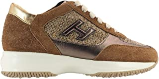 Hogan Luxury Fashion Womens HXW00N0BH50M1V0QY4 Brown Sneakers | Fall Winter 19