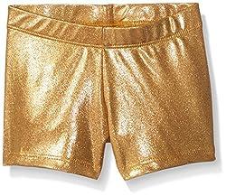 Gia Mia Dance Girls' Big Metallic Shorts