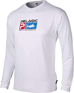 Pelagic Men's Aquatek Long Sleeve Fishing Shirt | UV 50+ Sun Protection