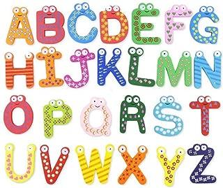 Aofocy Paquete de 26 Letras del Alfabeto número imanes de