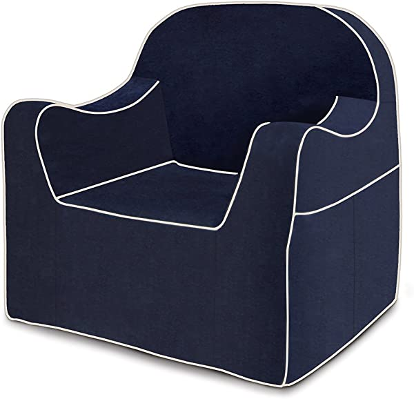 P Kolino Reader Chair Navy Blue With White Piping