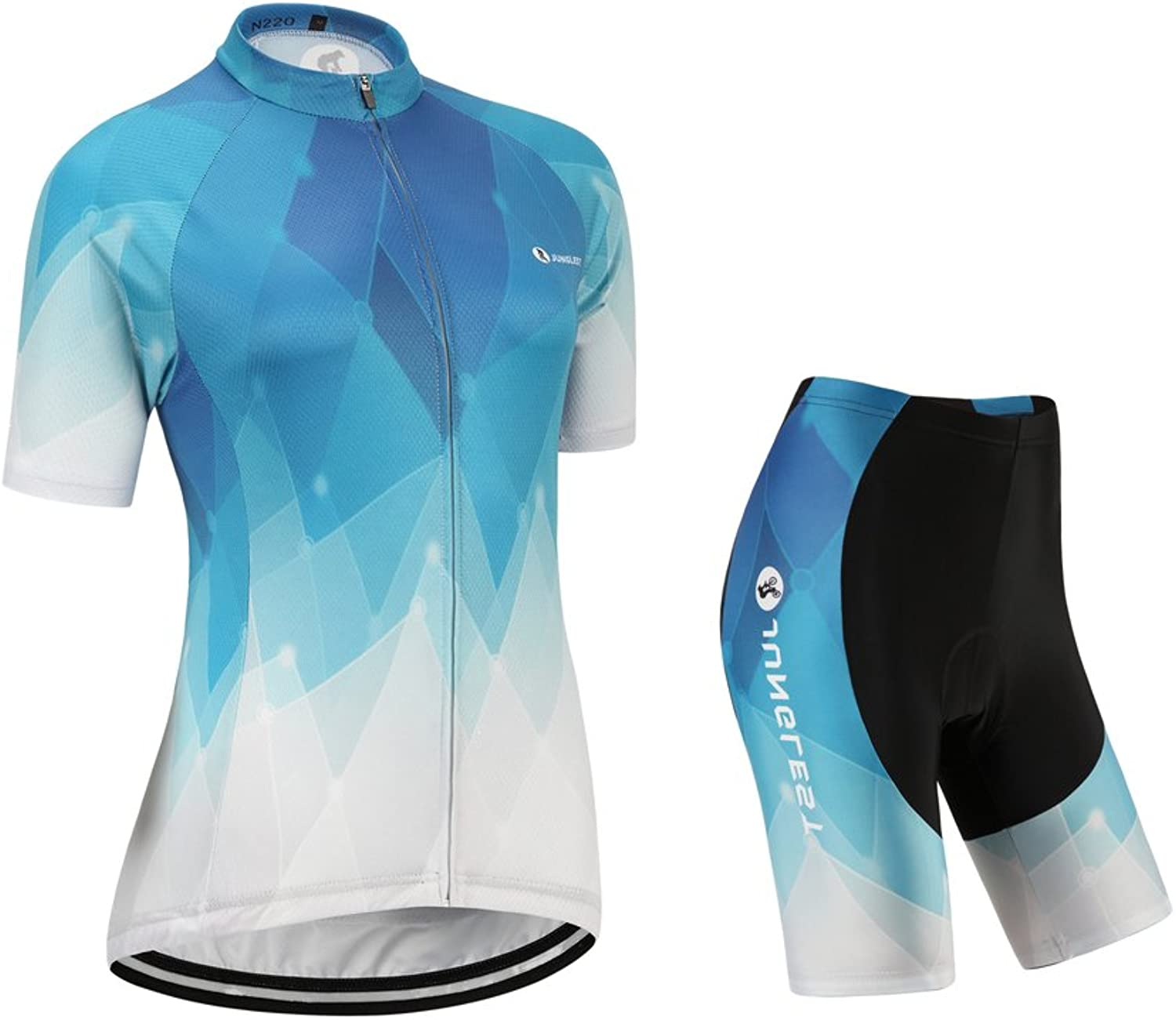 JUNGLEST Women's Cycling Jersey and Shorts Set,Short Sleeve with 3D Pad