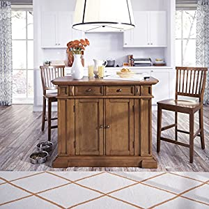 Kitchen Island And Two Stools Oak For Sale Shopping