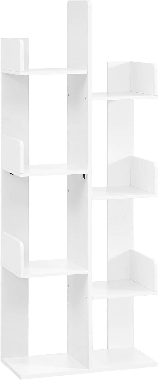 VASAGLE Bookcase favorite Tree-Shaped Bookshelf Shelves Max 82% OFF Storage with 8
