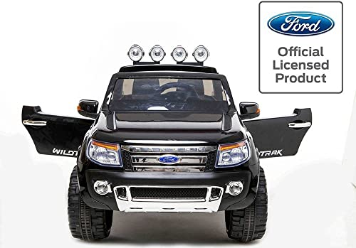 apresurado a ver Duplay Ford Ranger Licensed 12v Electric Ride On On On Jeep with Upgraded Twin Motor, MP3 Plug-In and Parental Remote Control (Special negro) by Duplay  se descuenta