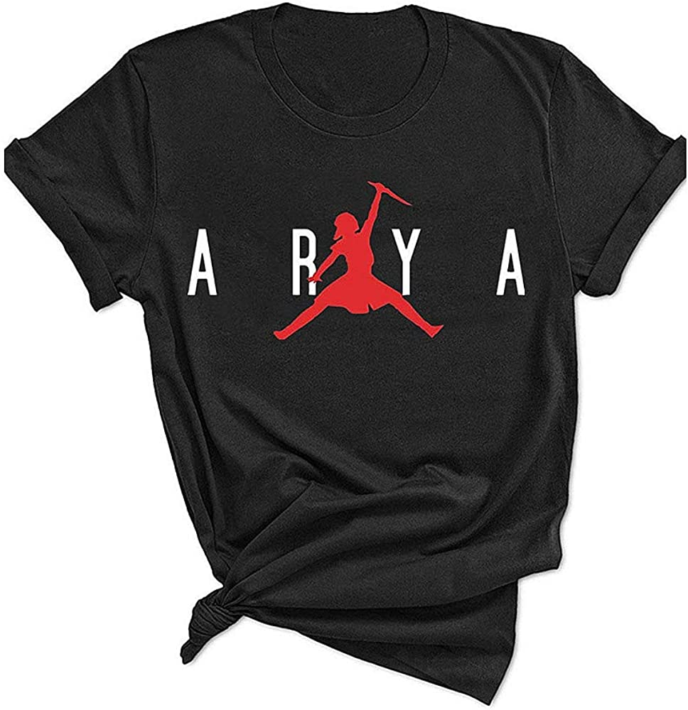Stark Arya Shirt Women Funny Cute TV Show Graphic Tees Tops for Teen Girls
