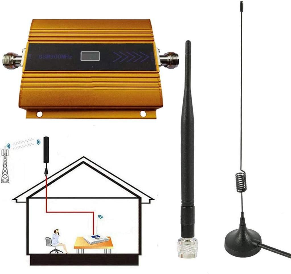 C&JQ gsm 900Mhz Amplificador de Señal de Teléfono Movil,Amplificador de Cobertura Movil Interior Repetidores de Señal de Móviles Facil de Instalar ...