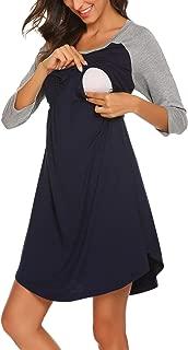 Women's Maternity Dress Nursing Nightgown for Breastfeeding Nightshirt Sleepwear S-XL