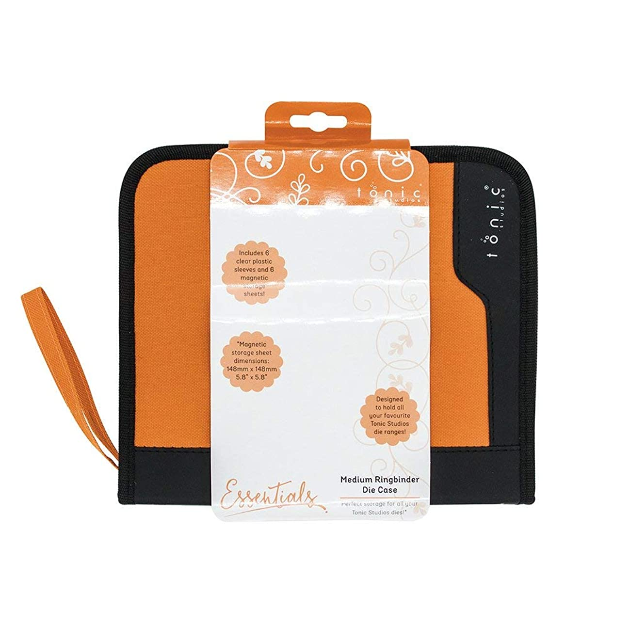 TONIC STUDIOS 344E 6 Piece Ringbinder Clear Inserts and Magnetic Sheets, Medium, Orange/Black