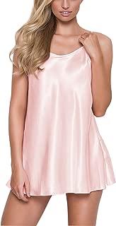 Women's Pajamas Satin Lingerie Nightgown Spaghetti Strap Sleepwear Slik Chemise Mini Slip Short Nightwear
