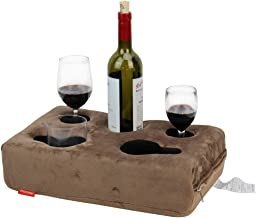 INNO STAGE Couch Cup Holder, Sofa Drink Holder Tray, Removable and Washable Pillow Cushion with Coffe Mug Holder for Home,...