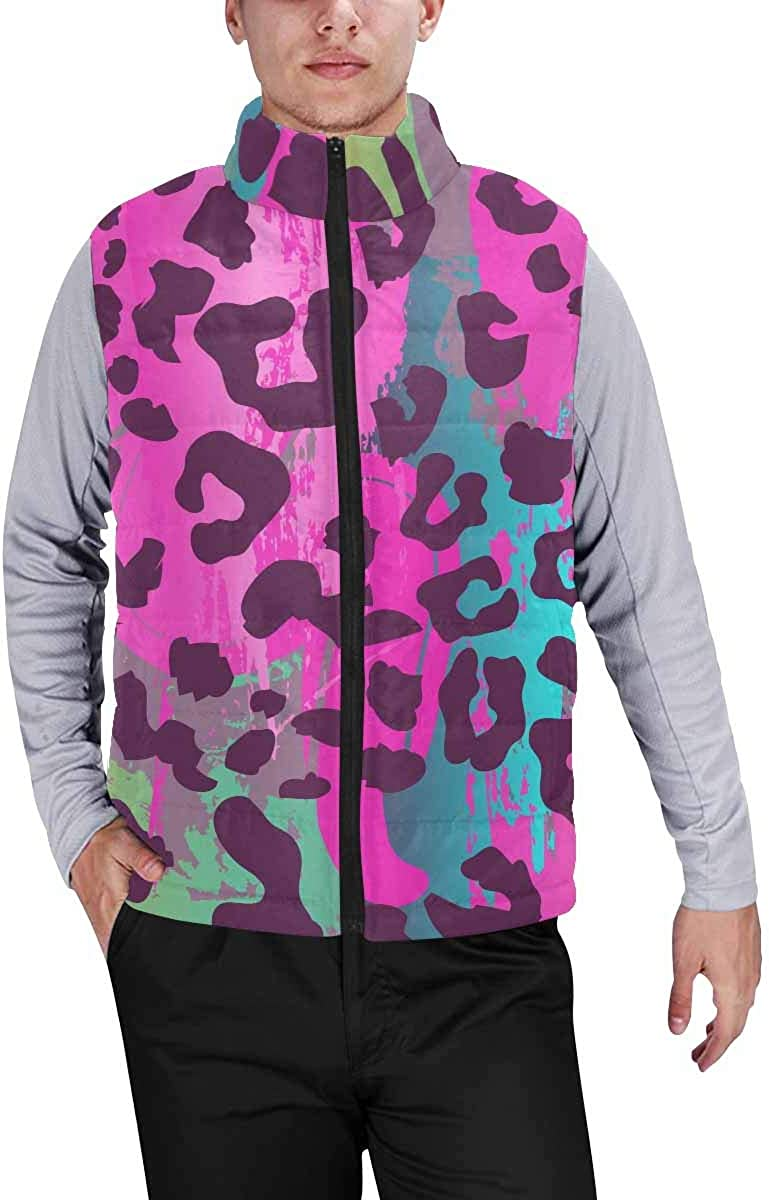 InterestPrint Men's Casual Sleeveless Coats with Personality Design Color Lizard