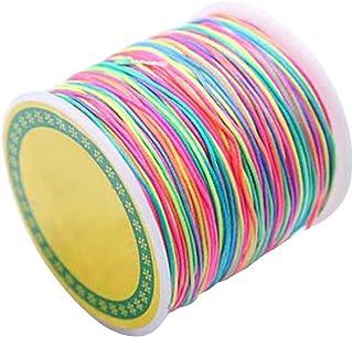 rosenice 100m 1mm Schnur Beading Thread Stretch Bead String Multicolor Craft Cord