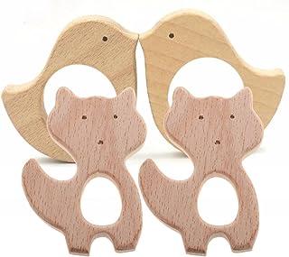 Babypflege Schmuck Katze form Beißring aus Holz für Baby Kinderspielzeug