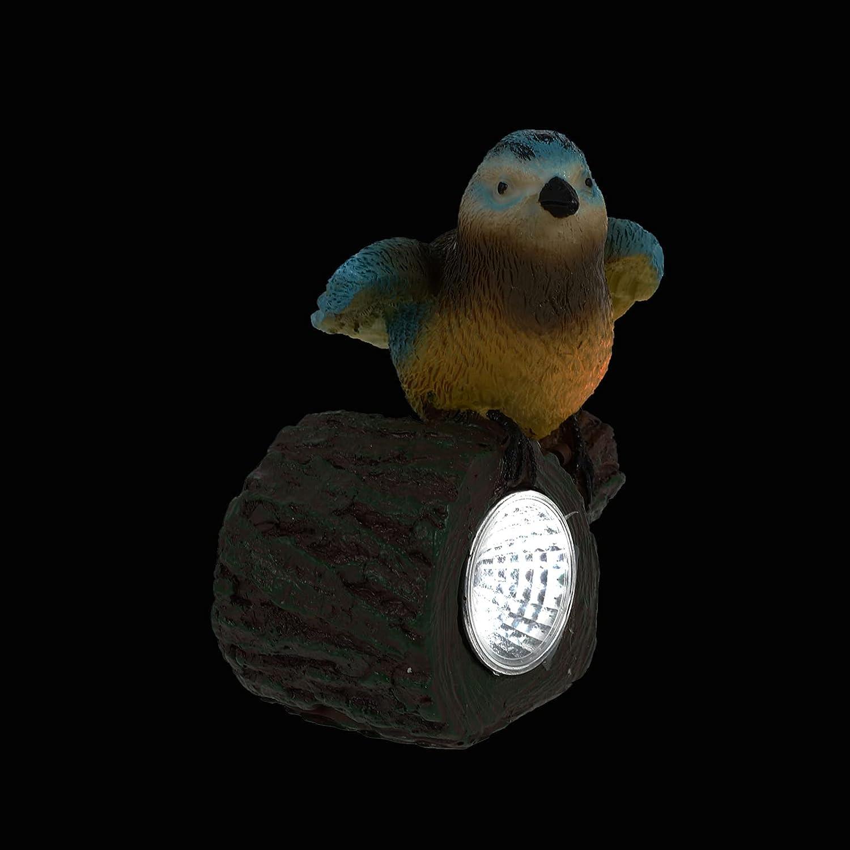 BESPORTBLE Our shop shop most popular Garden Birds Statue Solar Powered Lights Bi LED Resin