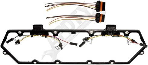 Sold Individually; Replaces F81Z6584AA, F81Z9D930AB APDTY 726312 Valve Cover Gasket Kit w//Glow Plug Wiring Harness Fits Select 1998-2004 Ford//IC Corporation//International Trucks w// 7.3L Diesel