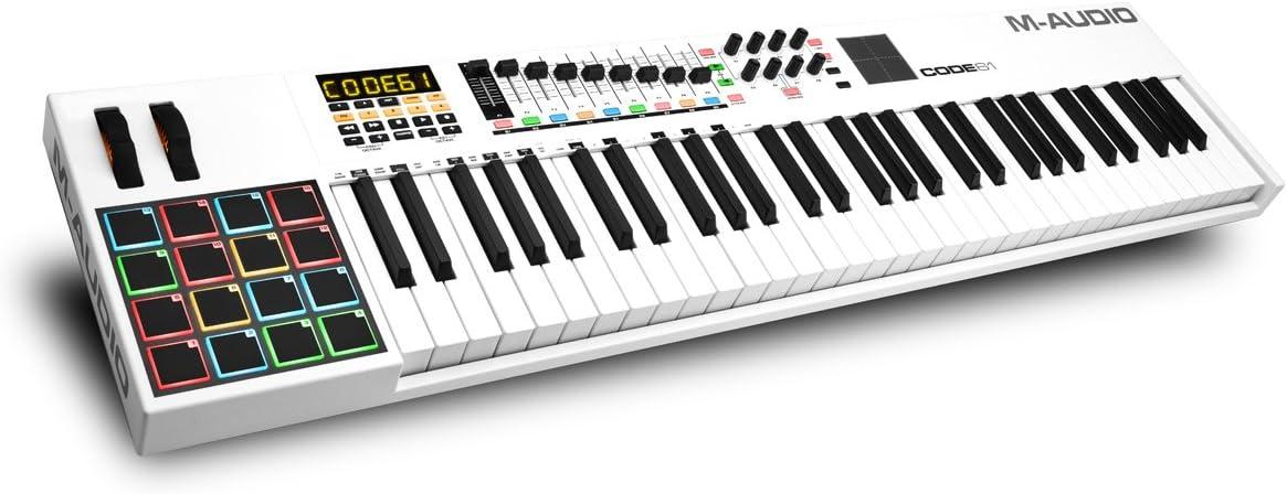 M-Audio Code 61 - Controlador USB-MIDI con 61 teclas, 16 pads de disparo y una completa remesa de control para la producción/interpretación
