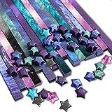 PaperKiddo 800 Hojas Origami Paper Craft Papel Plegable Diferente patrón Starry Sky Papel niños Artes y Manualidades 24cm * 1.2cm