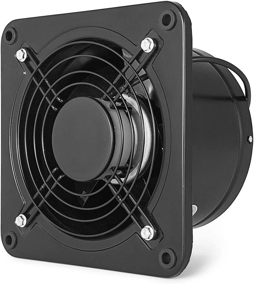Ventilador industrial Extractor Ventilador comercial Ventilador Ventilador de escape axial de metal 150 mm Apertura para almacén Restaurante Garaje
