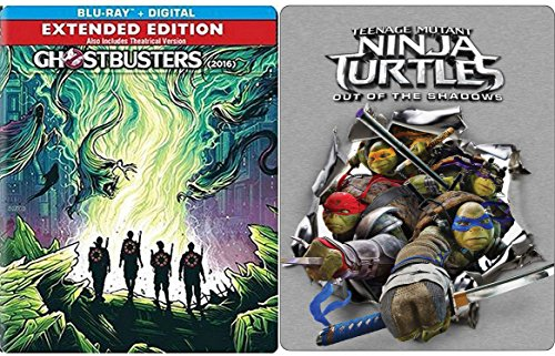 Teenage Mutant Ninja Turtles: Out Of The Shadows Exclusive Steelbook & Ghostbusters: Answer the Call Exclusive Steelbook Set
